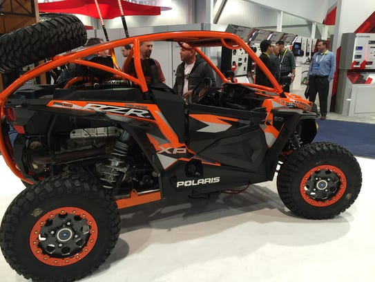 Polaris RZR XP Turbo EPS is on display at the Consumer