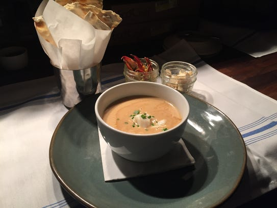 Pine Island crab bisque from The Bay House in North