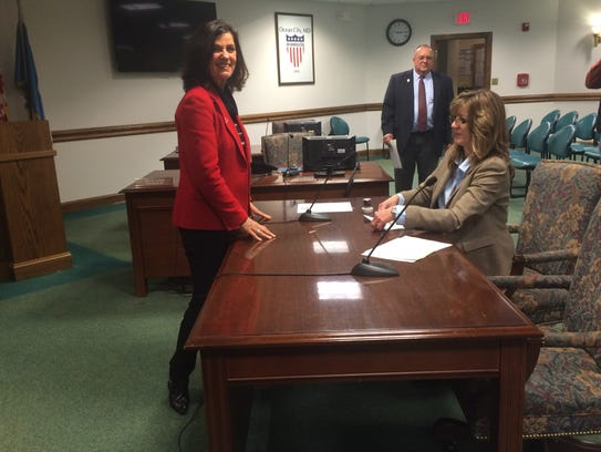 Council Secretary Mary Knight officially filed paperwork