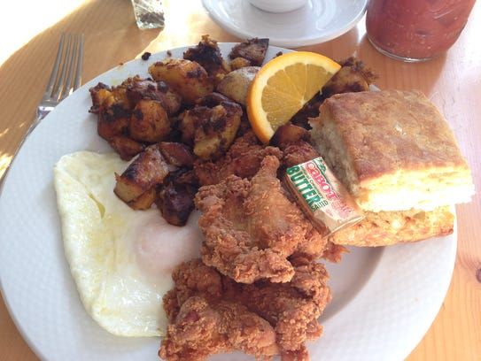 """""""The Southern"""" at Down Home Kitchen in Montpelier consists"""