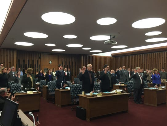 The Dutchess County Legislature is sworn in to office