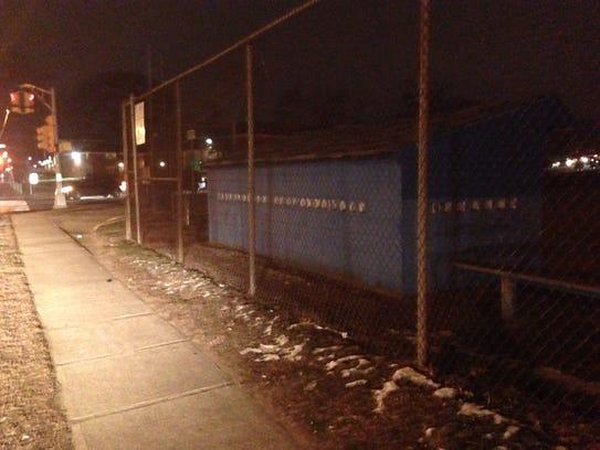 The dugout at a Lakewood baseball field where Ronald