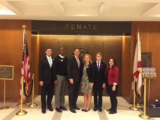 SGA leaders pose with Florida Senate president Andy
