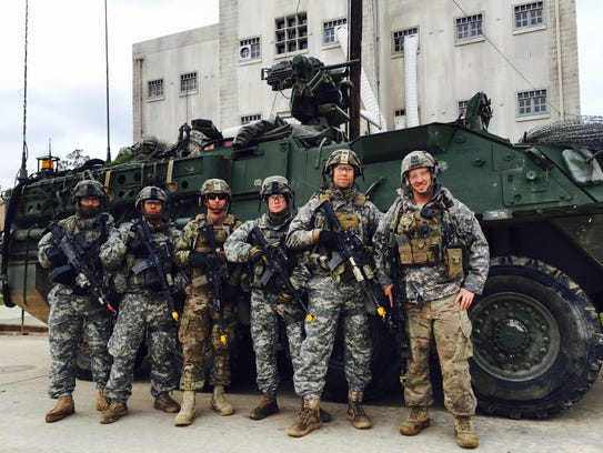 Soldiers from Charlie Company, 1st Battalion, 36th