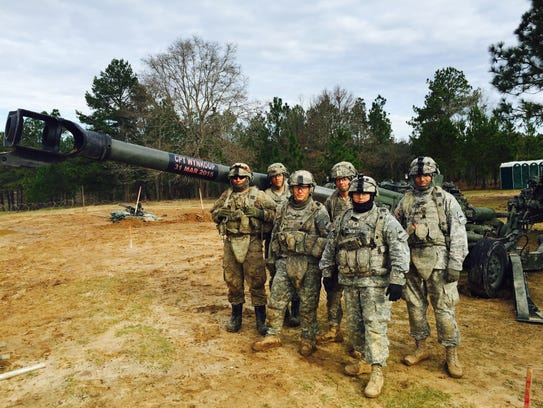 Soldiers from 2nd Platoon, Bravo Battery, 2nd Battalion,