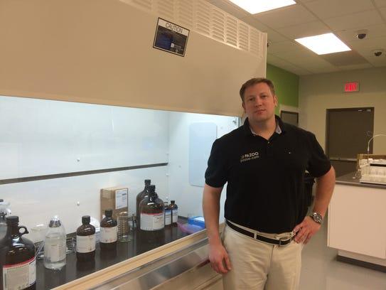 David Cunic at one of his medical-cannabis testing