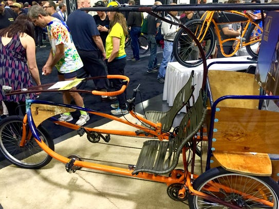 A three-wheel vehicle from Pineapple Trikes. It was