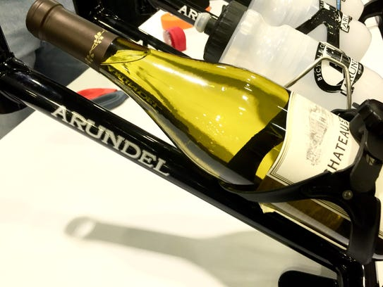 Who needs water? This custom wine rack on display at