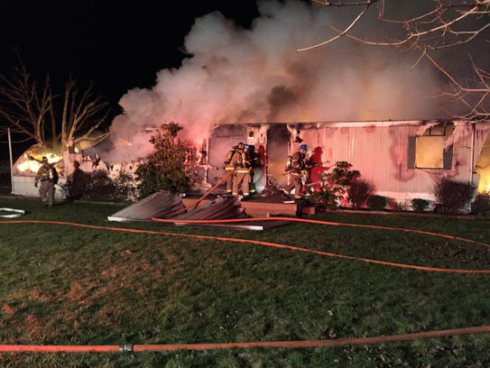 A Frederick Pike home in Germany Township was destroyed