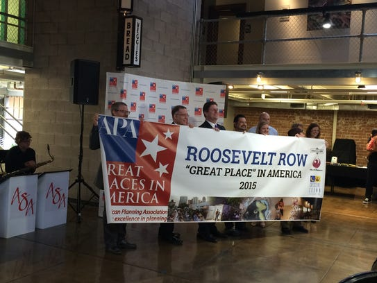 Downtown and city leaders announced Roosevelt Row as
