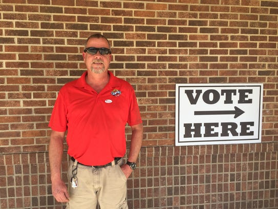 Kenny Clark voted at Vance Elementary.