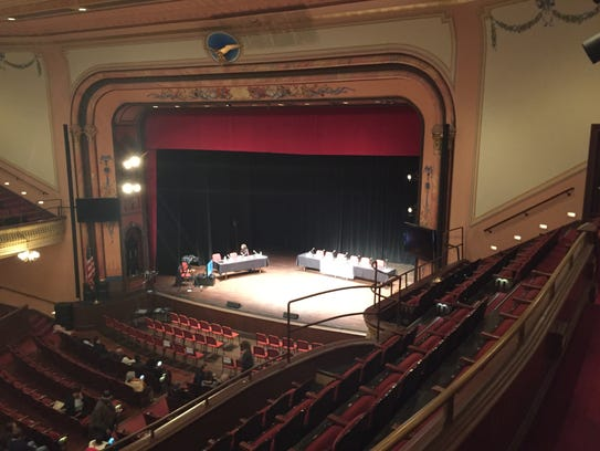 Audience members begin to fill The Grand Opera House