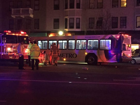 A Metro bus, driven by Tyrone Patrick, struck two pedestrians