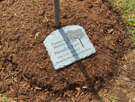 A memorial tree was planted just before Spring Break
