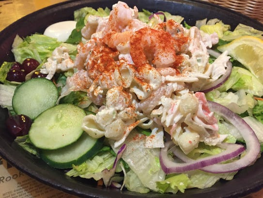 The Captain Jack seafood salad at Toot's.
