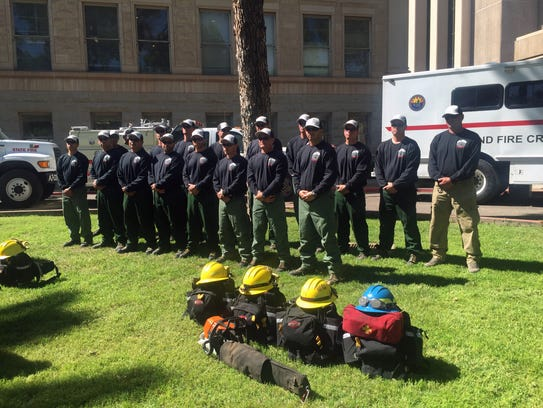 The Department of Corrections Globe wildfire crew is