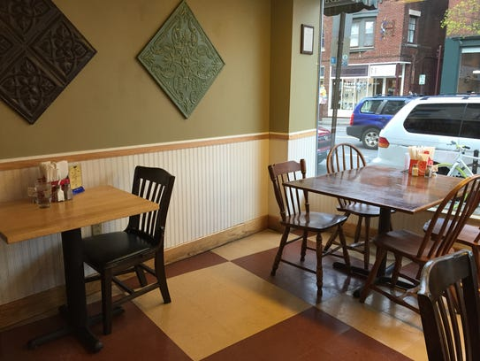 The eating area looks out onto South Avenue.