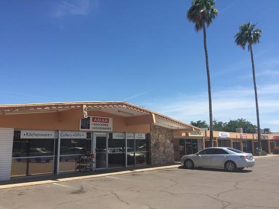 A 1960s era strip mall on Hayden Road in south Scottsdale