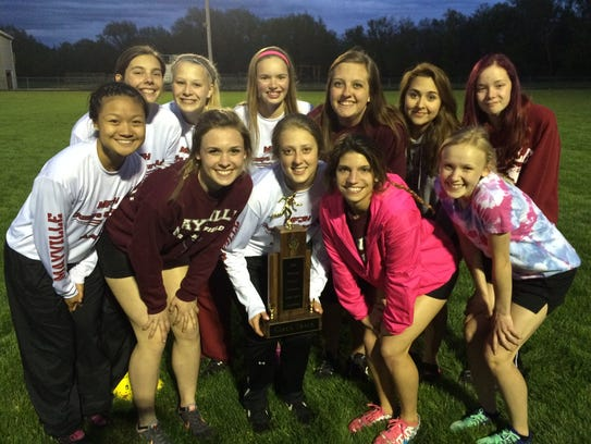 The Mayville girls track and field team won the 2016