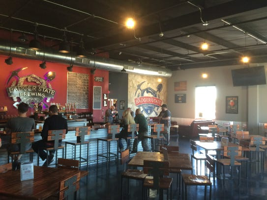 Badger State Brewing taproom at 990 Tony Canadeo Run,