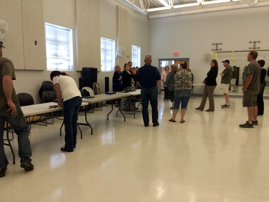 Oakwood Elementary School parents and relatives filled