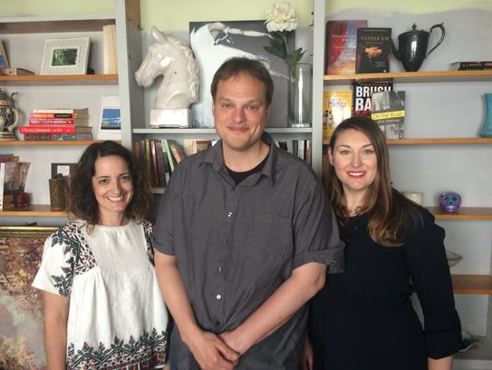 Rachel Yoder, Garth Greenwell and Andrea Wilson on