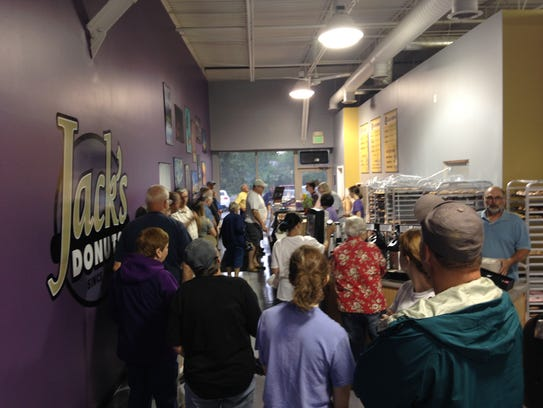 The line at Jack's Donuts, 2900 W. White River Blvd.