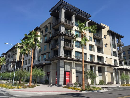 The Stetson, a five-story apartment complex in downtown