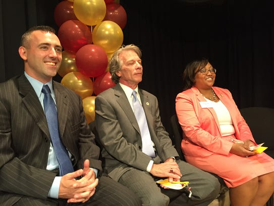 In this June 9, 2016 photo, from left, Salisbury Mayor