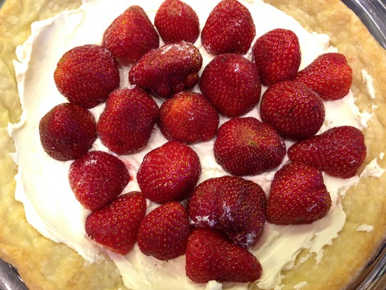 Ruth Page's Strawberry Pie begins with a baked pie