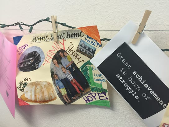 """Clients at A New Leaf in Mesa create this """"Vision Board"""""""