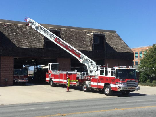 The Salinas Fire Department's new ladder truck and
