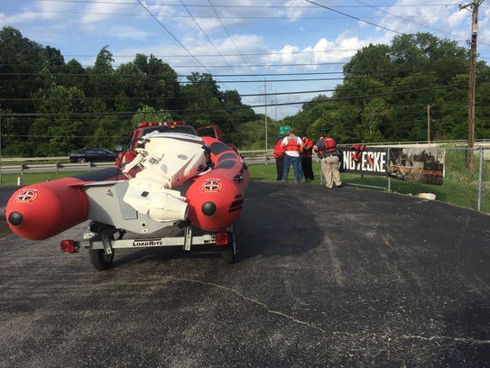 Emergency crews prepare to search Ringgold Creek for