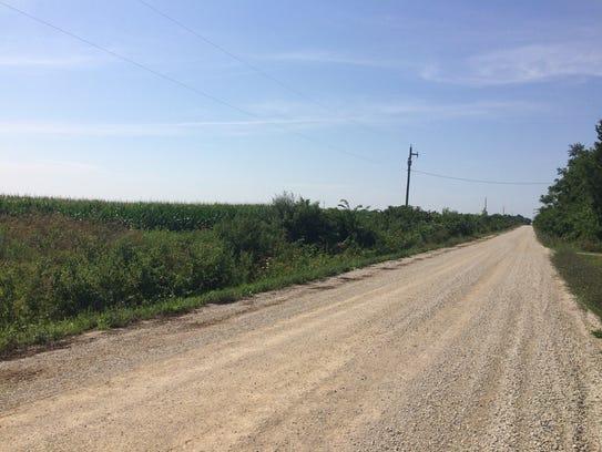 Flat farmland south of Dale Maffitt Reservoir is expected