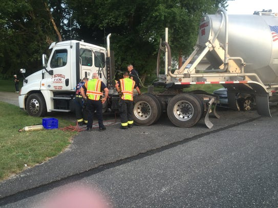 Vineland firefighters worked to contain a fuel leak