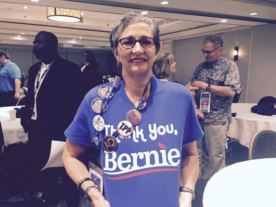 Jill Dunham, a Bernie Sanders supporter from Plainwell,