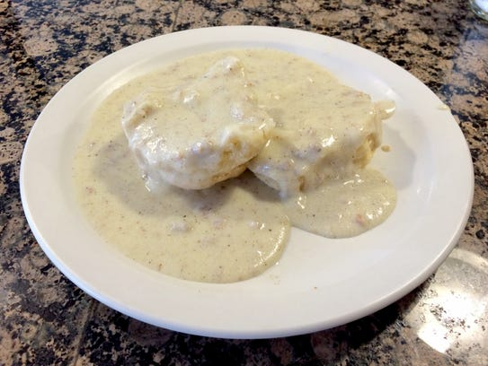 You can get a half-order of Biscuits and Gravy with