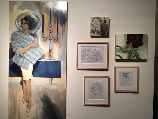 A suite of works by Detroit artist Glenn Barr on view