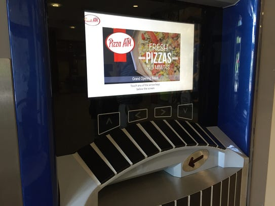 The new Pizza ATM installed on Xavier University's