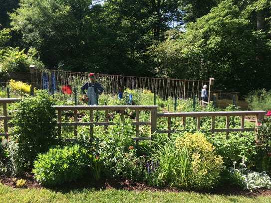 The Fairview garden tour included a variety of stops