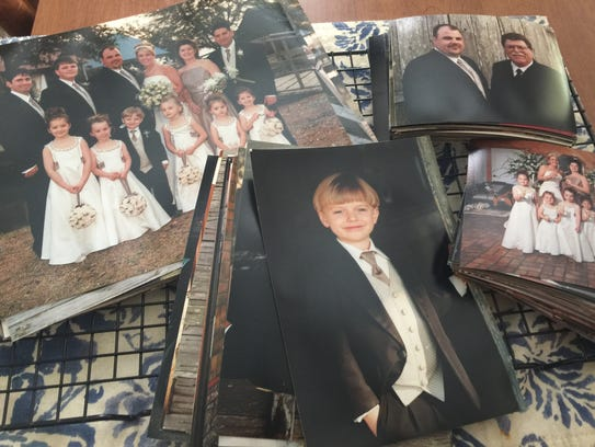 Kimberly Viator helped a family salvage these photos