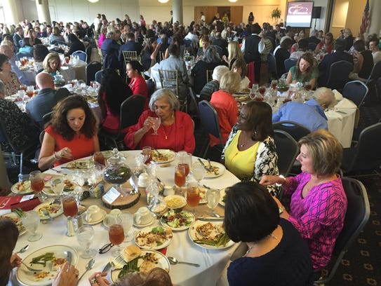 Hundreds turned out Thursday for the Virginia K. Shehee