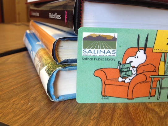Snoopy will grace the new library cards for Salinas