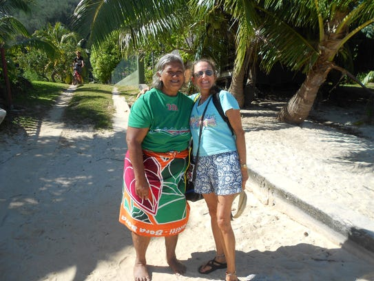 Lisa Gannon of Tempe (right) spent 10 days sailing