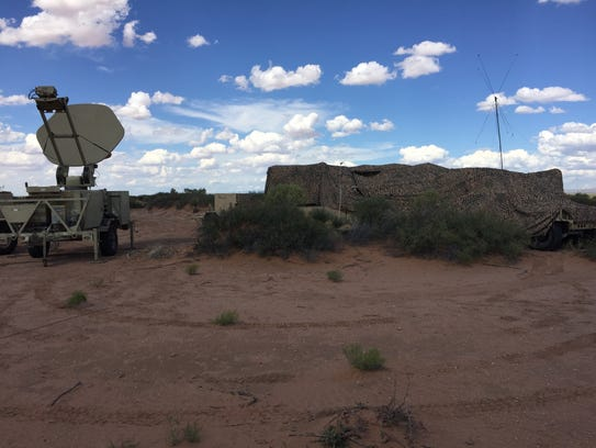 This is an example of a communications node set up