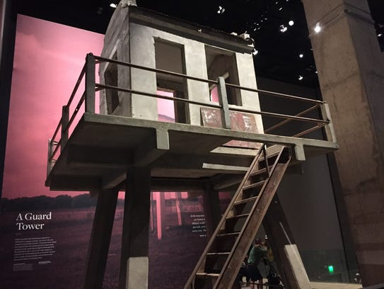 A tower from Angola prison is on exhibit at the Smithsonian's