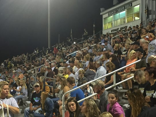 A large crowd came to SCHS's homecoming.