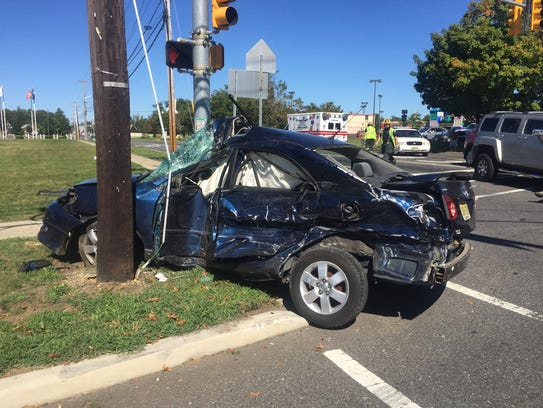 The driver of this vehicle, Miguel A. Martinez of Bridgeton,