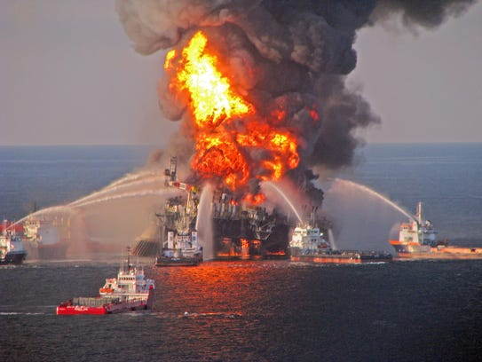 The BP Deepwater Horizon oil spill of 2010 off the coast of Louisiana was the worst oil maritime oil spill in U.S. history, spewing some 4 million barrels of oil over an 87-day period.