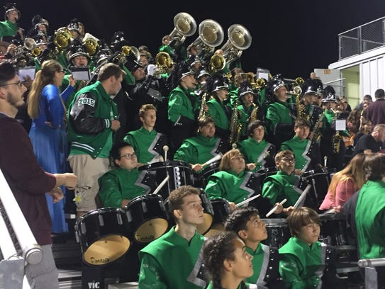Band members did their part to keep the Irish faithful
